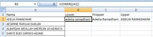 Change Case di MS.Excel